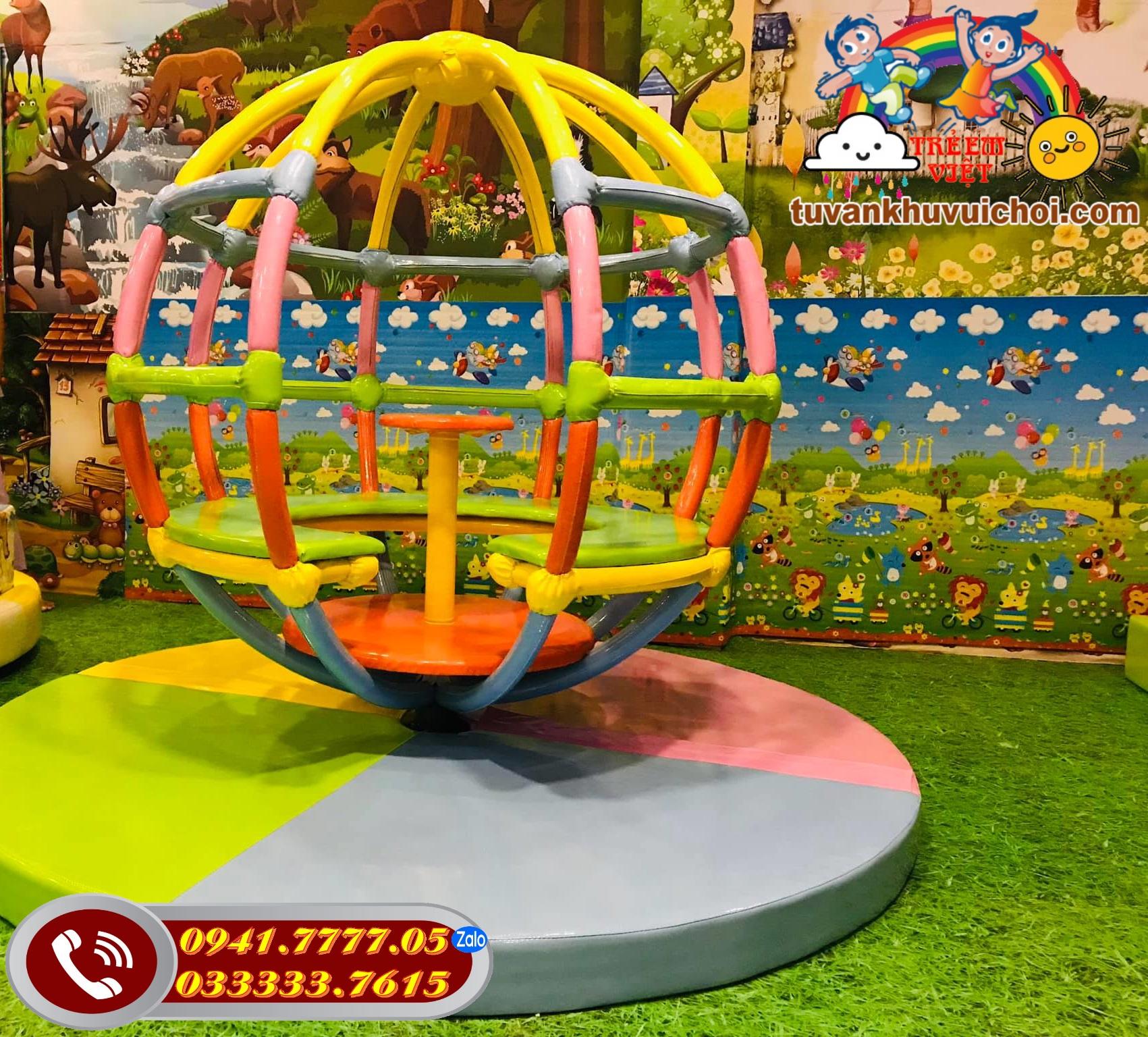 Hình ảnh thực tế của lồng Xoay khu vui chơi trẻ em