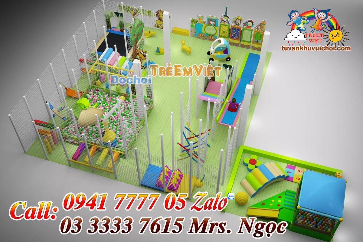 Thiết kế khu vui chơi liên hoàn trong nhà.