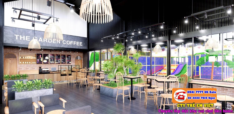 mô hình cafe kết hợp khu vui chơi trẻ em