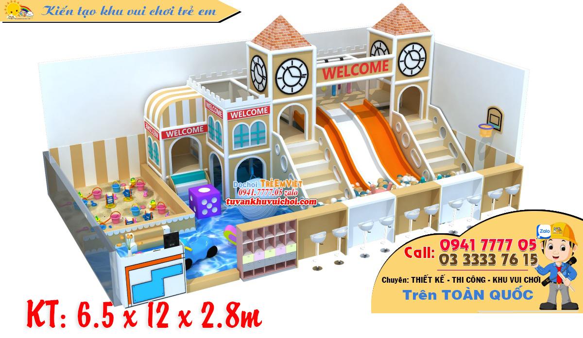 Mô hình nhà bóng liên hoàn 3 tầng kích thước: 6.5 x 12 x 2.8 m.