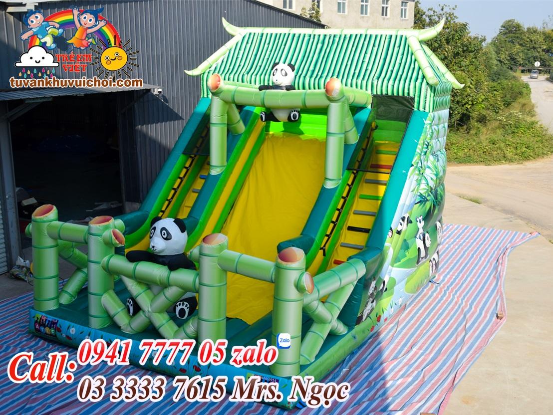 Nhà hơi panda sau khi thi công sản xuất hoàn thành và test thử trước khi gửi đến quý khách hàng.