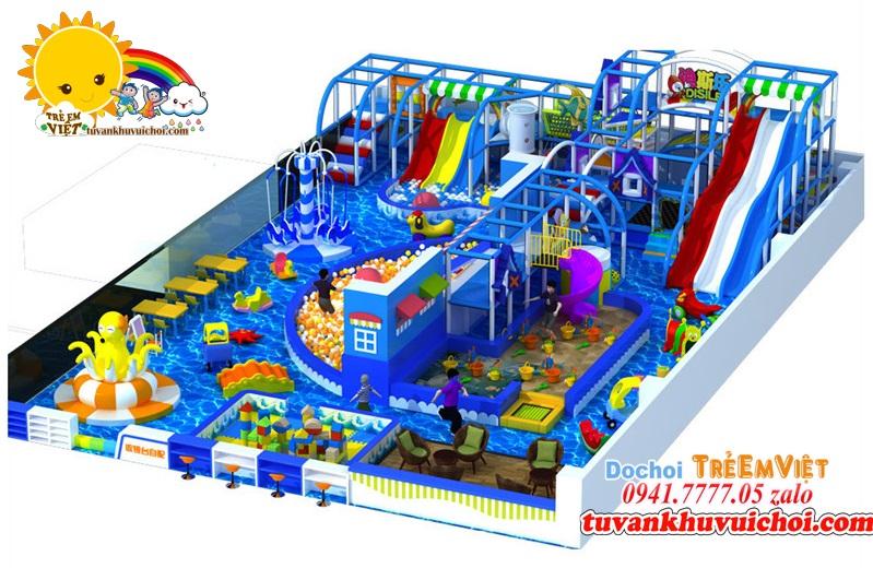 Nhà liên hoàn 300m2 rất nhiều đồ chơi.