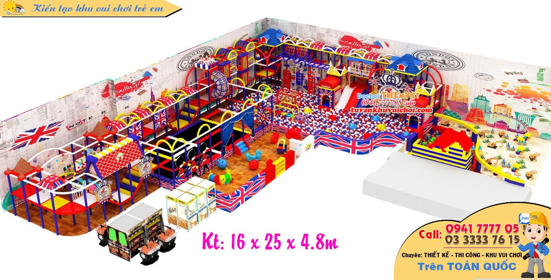 Mô hình nhà bóng kích thước: 16 x 25 x 4.8m