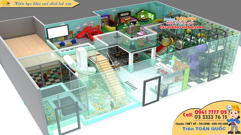 Mô hình nhà bóng liên hoàn 3 tầng kích thước: 12 x 25 x 5 m