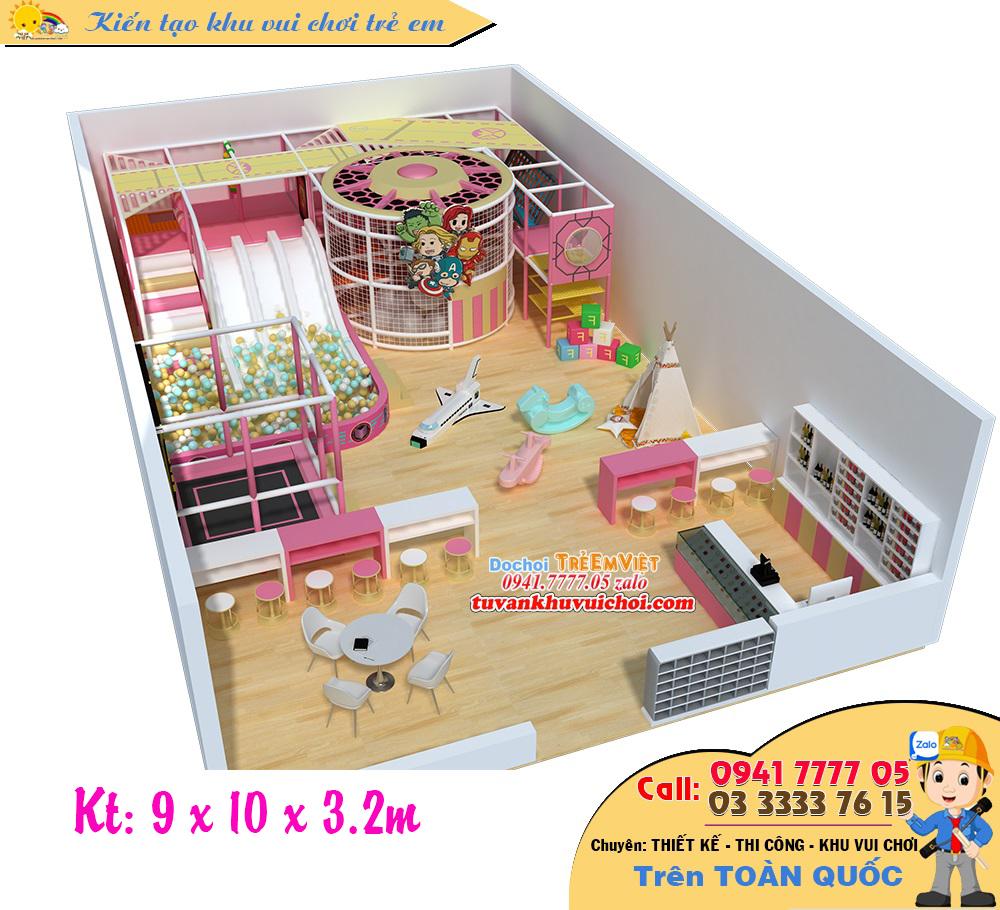 Mô hình nhà bóng kích thước: 9 x 10 x 3.2m