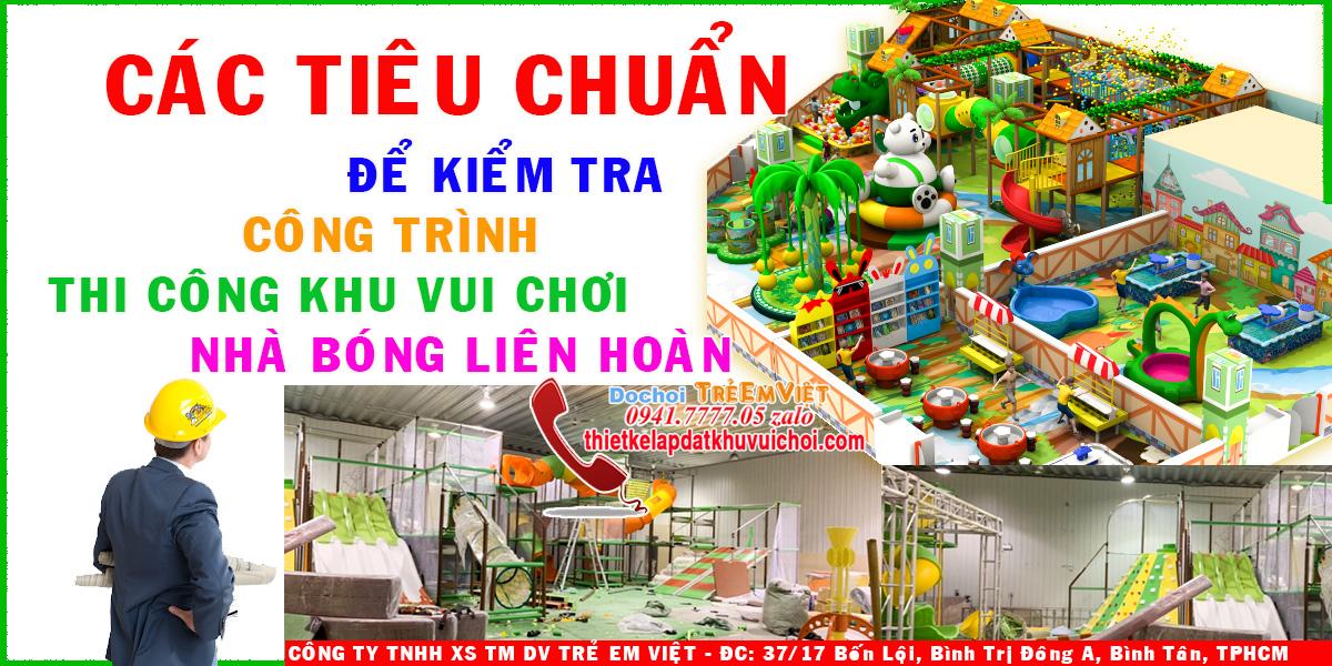 Công trình thi công khu vui chơi trẻ em trong nhà