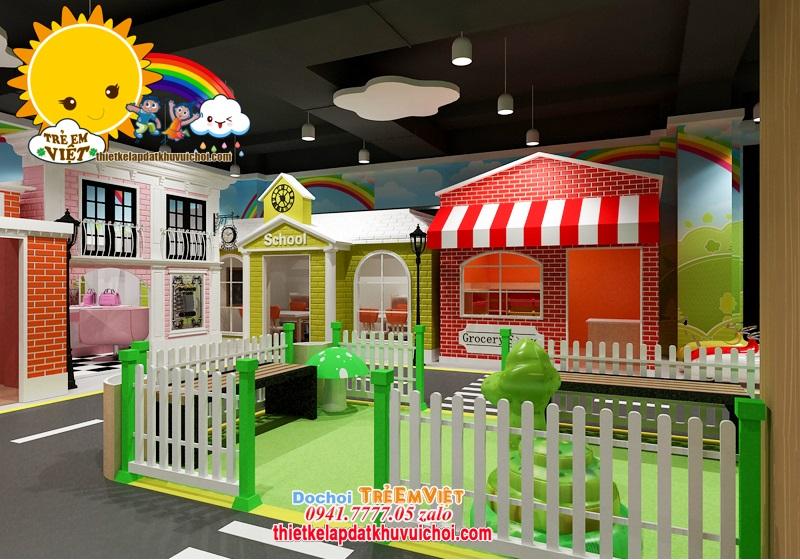 Thiết kế khu vui chơi hướng nghiệp cho bé